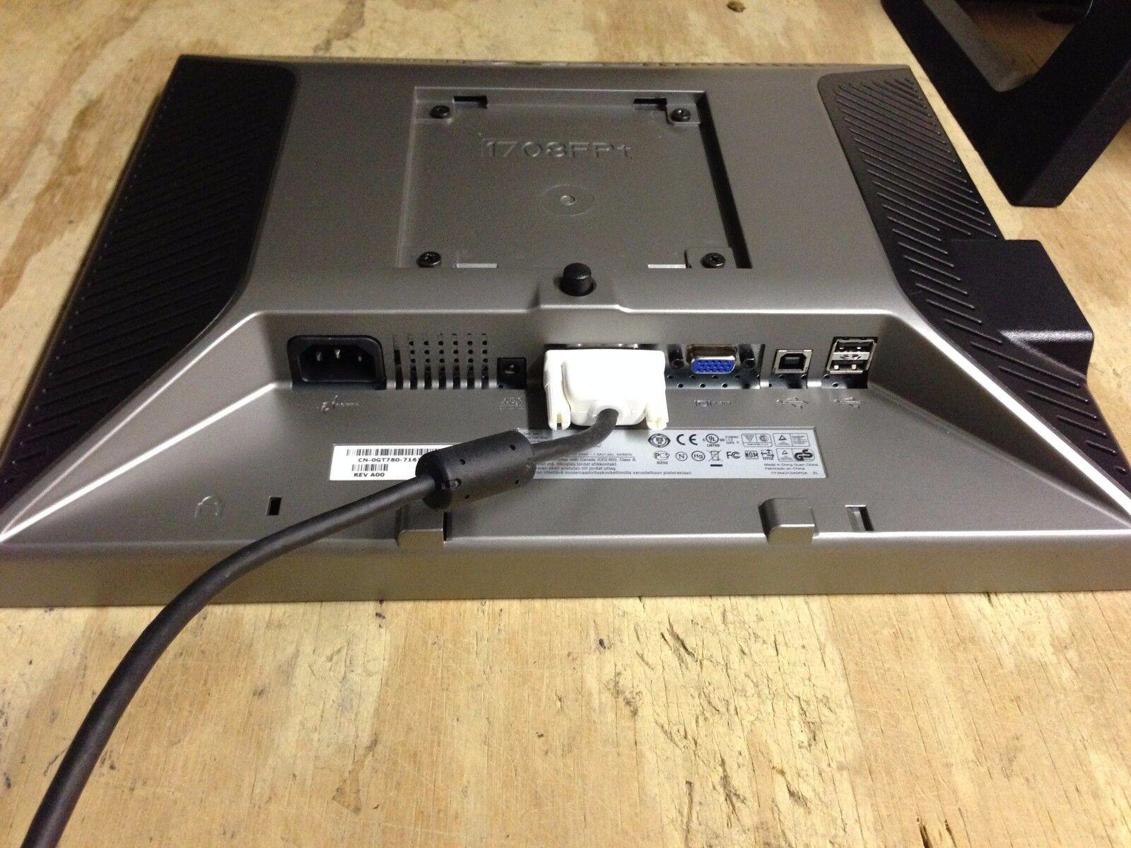 """Dell 17/"""" 17 LCD Monitor UltraSharp P1708fpt P1707fpt VGA DVI Dell computer stand"""