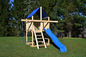 Triumph Play Systems Cedar Swing Set Bailey Spacesaver Ebay