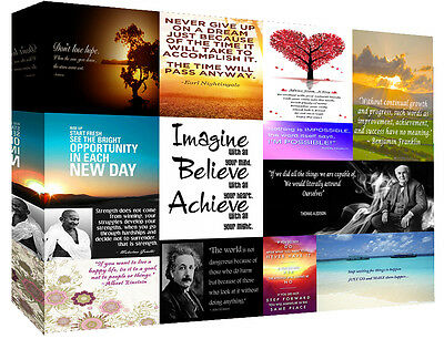 Motivation Quotes Canvas Wall Art  Picture 100% cotton - A1, A2, A0 sizes