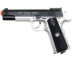500-FPS-NEW-WG-AIRSOFT-FULL-METAL-M1911-GAS-CO2-HAND-GUN-PISTOL-w-6mm-BB-BBs