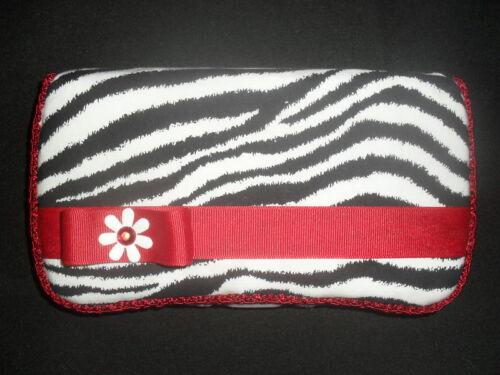 Red /& Zebra Stripes Baby Wipes Case