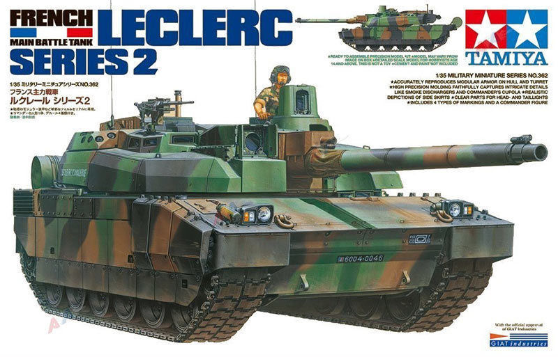 TAMIYA 35362 French Battle Tank LeClerc Series 2 1 35 Tank Model Kit