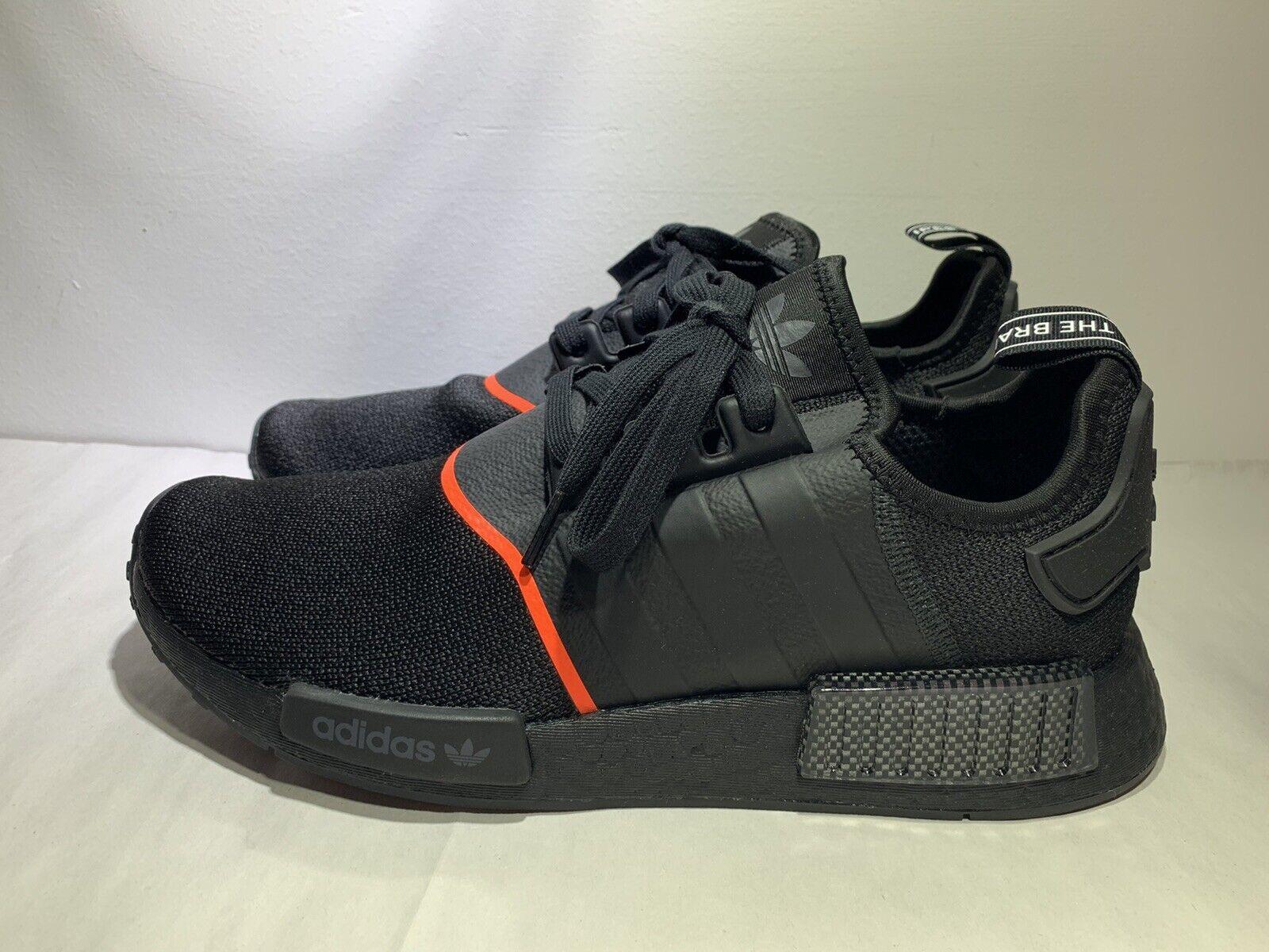 adidas nmd r1 black solar red The