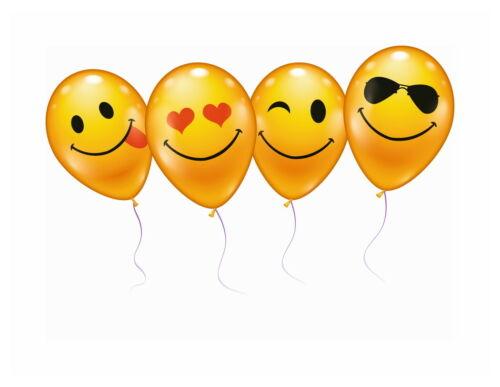 Luftballons Smiley 6 Stück Umfang 75 cm Helium geeignet von Stylex