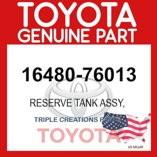 16480-76013 OEM 1648076013 GENUINE Toyota RESERVE TANK ASSY