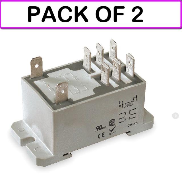 DAYTON 1EJG7 Relay,Power,DPDT,120VAC,Coil Volts