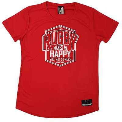 Rugby Rugby Makes Me Happy Rugga union funny Birthday sports T-SHIRT