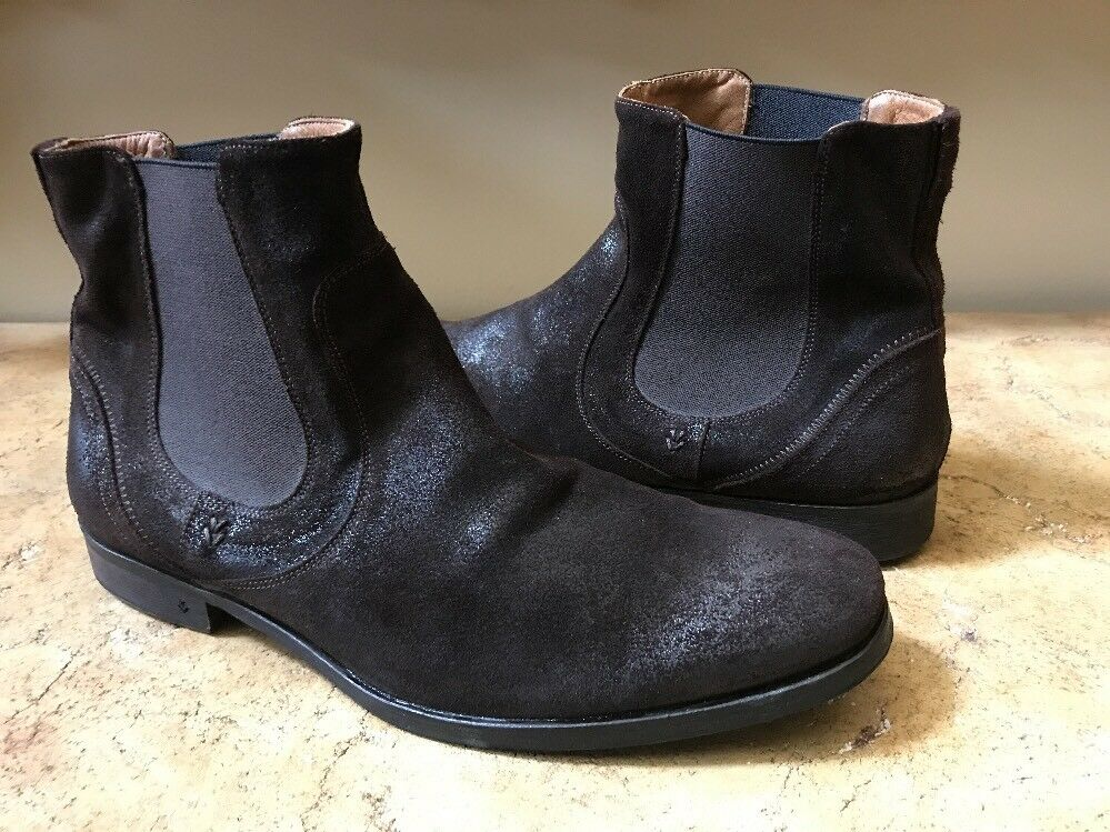 17acb2125a3e John Varvatos Brown Suede Distressed Ankle Boots Size Size Size 10.5 ...