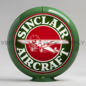 "Sinclair Aircraft 13.5"" Gas Pump Globe w/ Green Plastic Body (G178)"