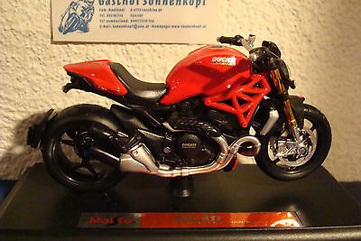 Motorrad Modell 1:18 Ducati 1199 Superleggra 2014 rot Maisto