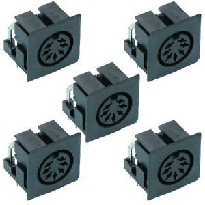 5 x 7-Way PCB DIN Socket Audio Connector