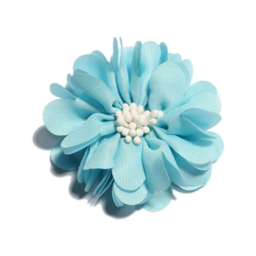 20pcs 5cm Vintage Wrinkles with Match End Do Old Chiffon Fabric Hair Flowers