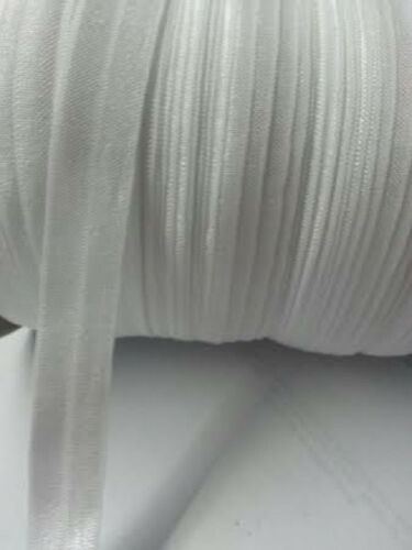 """10  yards  elastic white fold over foe 3//4/"""" great for hair tie"""