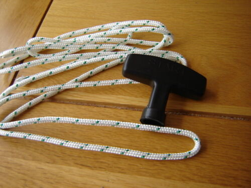 2 mtr OF 4mm ROPE AND HANDLE IDEAL FOR PETROL LAWNMOWERS AND STRIMMERS