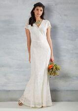 Modcloth Grand Staircase Entry Maxi Dress Ivory NWT M Maria Bonita Wedding lace