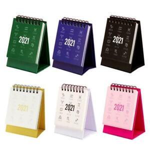 2021 Mini Desk Calendar DIY Portable Desktop Calendars ...