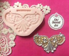 Baroque scroll silicone mold fondant cake decorating wax soap food  jewelry FDA