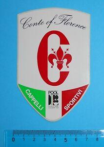 ADESIVO-VINTAGE-STICKER-AUTOCOLLANT-ANNI-039-80-CONTE-OF-FLORENCE-11x7-cm