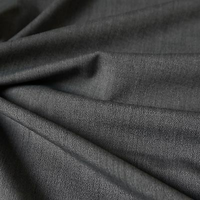 Grey Two Toned Chevy Light Weight Suiting Fabric (Per Metre)