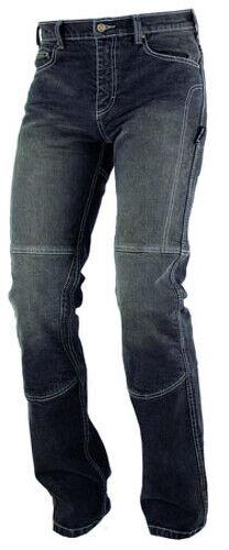 Jeans 100% Coton Moto Pantalon CE Protections Renforts Homme Noir