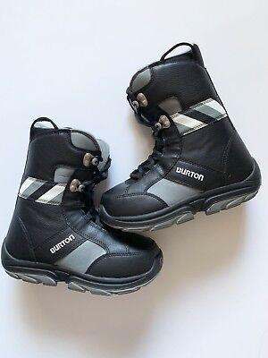 Black Red Snowboard Boots Burton Kids Junior Jr size kids 5 Lot RB11