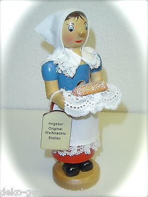 Räuchermann Räucherfrau Stollen Frau mit Kopftuch 18 cm Räucherfigur 40220
