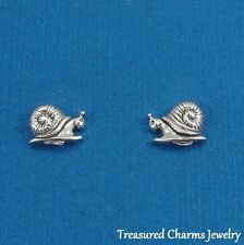 .925 Sterling Silver SNAIL Post Stud EARRINGS