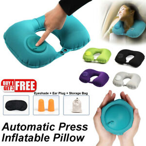 Inflatable-Pillow-Neck-Head-Rest-Air-Soft-Travel-Plane-Camping-Sleep-Cushion-Kit