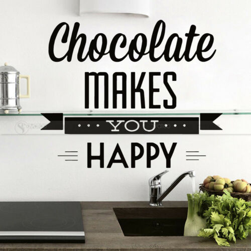 Chocolate Kitchen Vinyl Wall Sticker Decal Food Cafe Window Quote Words Home Art