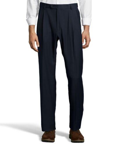 Palm Beach Executive Navy Pleat FlexFit Dress Pants Big And Tall