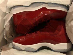 50841d797ca Nike Air Jordan 11 Win Like 96 XI Retro Gym Red 378037 623 SIZE 10 ...