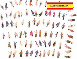 TRENES-ESCALA-N-LOTE-DE-10-PIEZAS-FIGURAS-HUMANAS-ESCALA-N-1-150-MUY-BELLAS