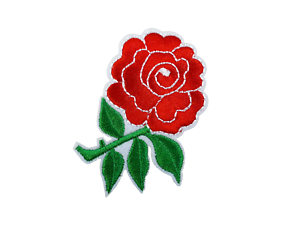 Sew-on-Iron-on-Embroidered-Single-Red-Rose-Flower-Patch-Badge-Fancy-Dress