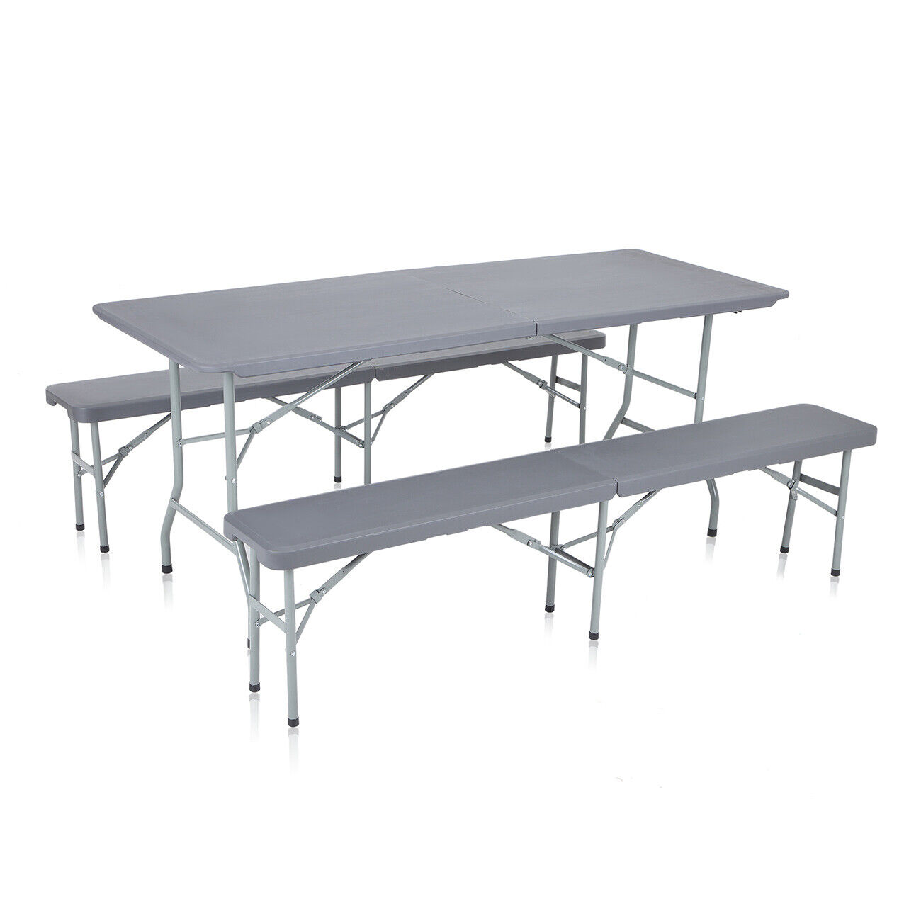 Camping Table and Bench Picnic Set Plastic Leightweight Foldable Furniture nouveau