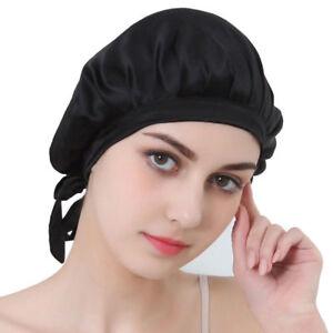 Image Is Loading Night Sleep Silk Hat Long Hair Care Chemo