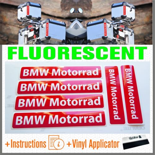 6x BMW Motorrad Red FLUO ADESIVI PEGATINA R1200 1150 F800 F650 F700 GS A