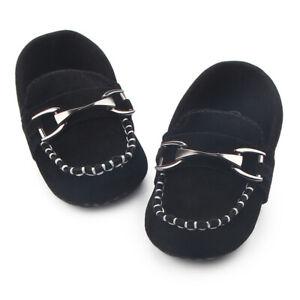 Pram Loafers Shoes Newborn Baby Boy First Walkers Kid Handsome Metal Hasp Cute