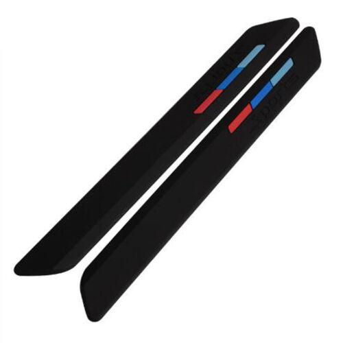 Car Rubber Front+Rear Bumper Scratch Protector Strip Corner Guard Sticker Black