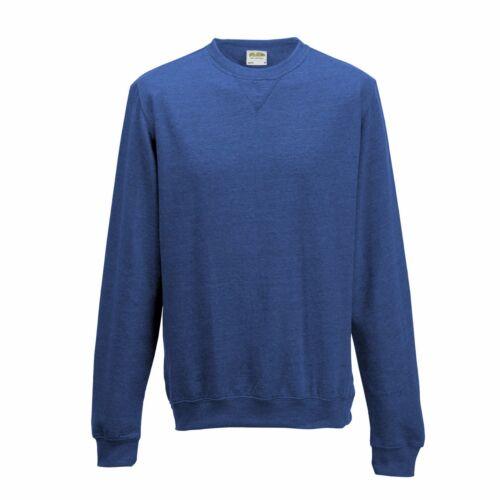 Slim Fit HEATHER BLACK PURPLE DARK BLUE GREY MARL PINK RED Sweatshirt Jumper