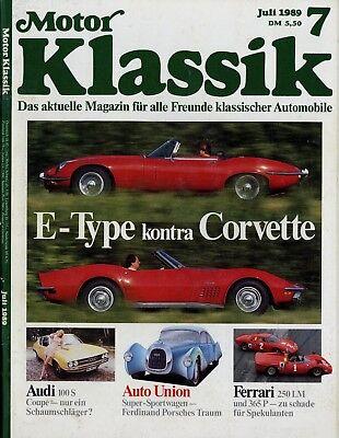 Motor Klassik 1989 7/89 Audi 100 Coupé S Corvette Stingray E-type V12 Ferrari 36 Berichte & Zeitschriften Auto & Motorrad: Teile