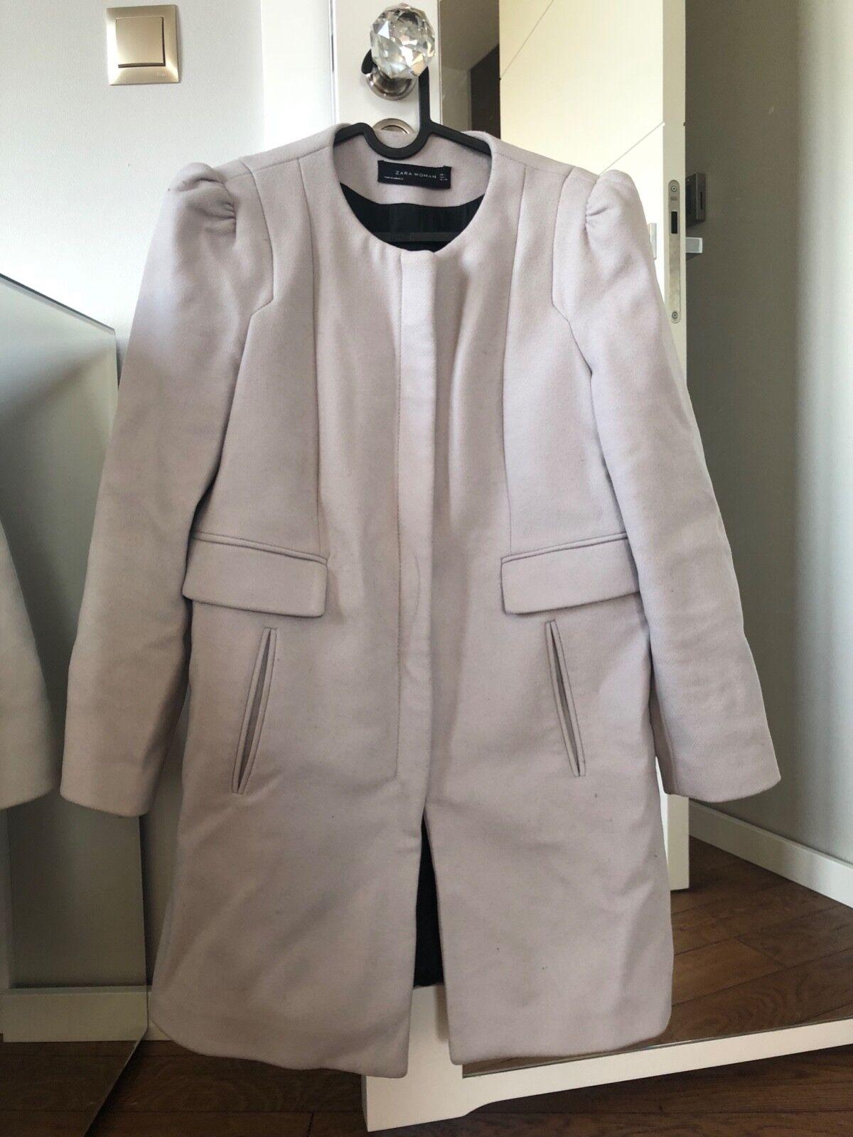 ZARA light grey coat size L