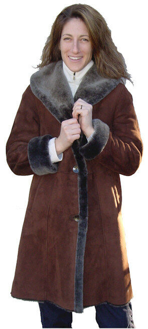 3 4 Spanish Merino Shearling coat, size medium