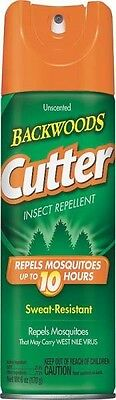 NEW CUTTER 96280 BACKWOODS OUTDOOR 6OZ INSECT BUG SPRAY REPELLENT 6969810