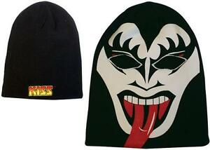 Kiss-Gene-Simmons-Full-Face-Beanie-Hat-Balaklava-With-German-Logo-Brand-New