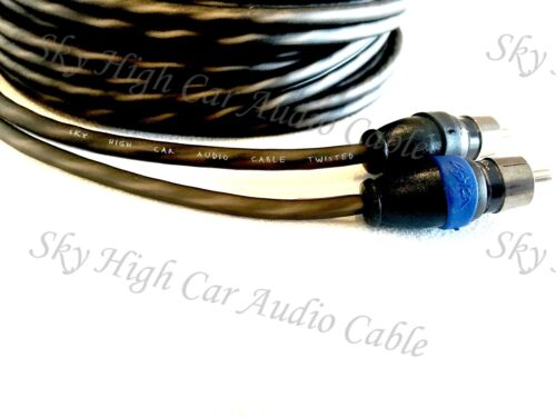 Sky High Car Audio 2 Channel Twisted 1.5 ft RCA Cables Coated 1.5/' OFC 1 1//2