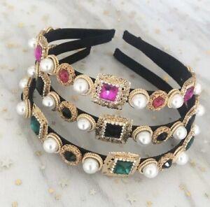 Pearl Alice Band Headband Gem Zara Hair Accessories Embellished Jewel