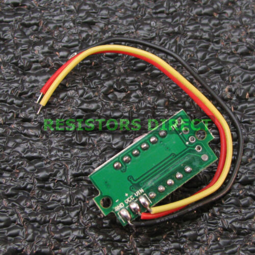 Red 0-33V DC Mini Digital Voltage Voltmeter 3 Wire LED Display Variable R04