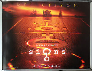 Cinema Poster Signs 2002 Advance Quad Mel Gibson Joaquin Phoenix Rory Culkin Ebay
