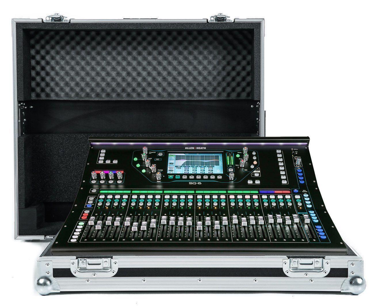 Allen & Heath SQ6 Mixer Flug Hülle von NSP Cases