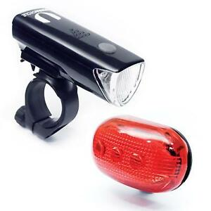 Bicycle USB Rechargeable Headlight Helmet Lamp Bike Cycling Front Rear Light Set
